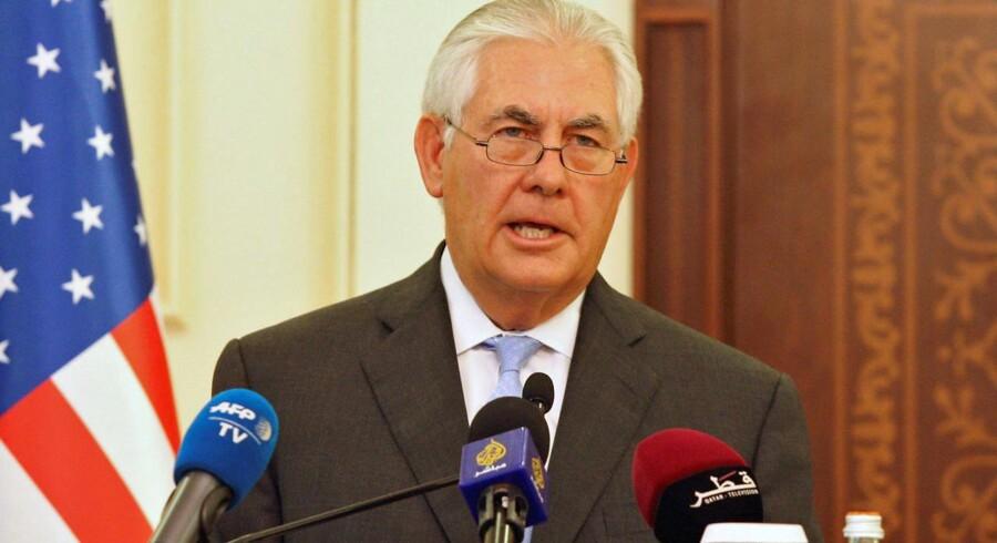 Arkivfoto. Rex Tillerson er på vej med en erklæring om atomaftalen med Iran, siger talsmand i Det Hvide Hus.