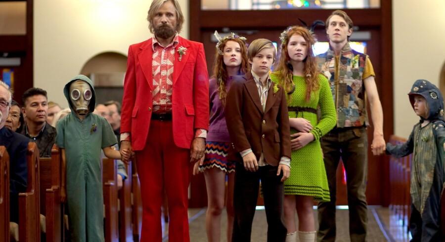 BMINTERN - Viggo Mortensen og børnene i filmen Captain Fantastic