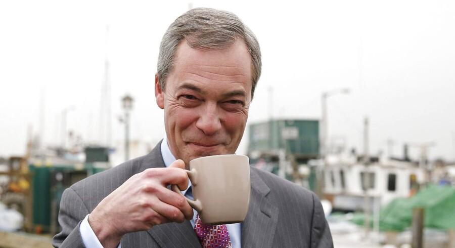 Nigel Farage, leder af det EU-kritiske UK Independence Party (UKIP).
