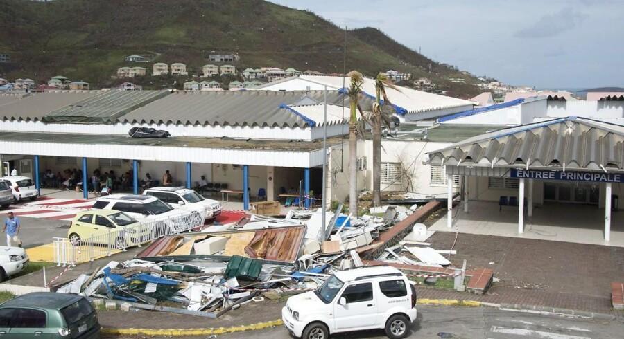 Orkanen Maria vokser sig stærk i Irmas bane.