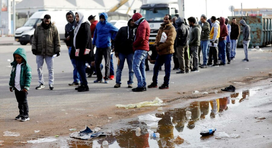 Afrikanske migranter i Bnei Brak, Israel.