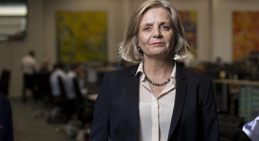 Sydbanks topchef Karen Frøsig må se sig overhalet på udlånsfronten af Handelsbanken.