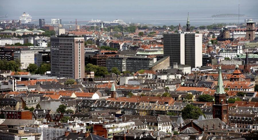 København. Udsigt fra Bohrs Tårn på Vesterbro. Et nyt udspil fra regeringen møntet på at styrke hovedstadsområdet vækker begejstring i erhvervslivet.