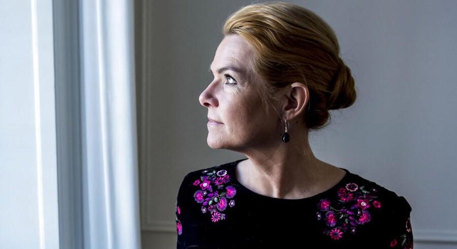 3.G på Ringkjøbing Gymnasium møder udlændinge- og integrationsminister Inger Støjberg (V) på Slotsholmen i København, torsdag den 22. februar 2018.