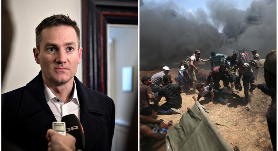 Rasmus Jarlov (K) mener ikke, at israelerne kunne have handlet anderledes end de gjorde mandag, da 58 palæstinensere blev dræbt og op mod 2.700 blev såret. »Jeg lærer ikke at forstå palæstinensernes selvmordstrang,« lød det i et tweet.