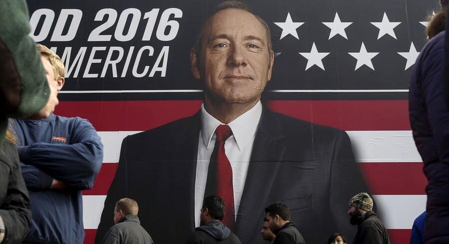 Sådan er man vant til at se Kevin Spacey om forgrundsfigur for Netflix' profilserie »House of Cards«. Men nu er profilen blevet et problem.
