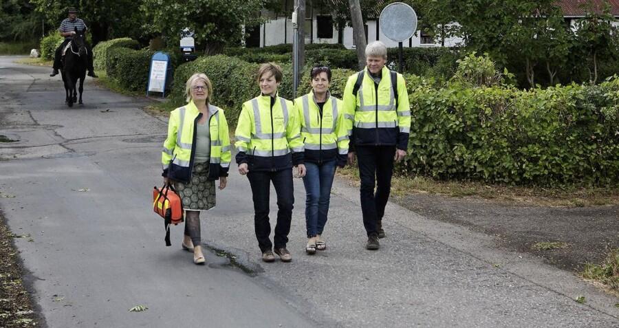 Tusindvis af danskere skal den kommende tid rekrutteres og uddannes til at rykke ud og yde førstehjælp, når 112-alarmen går - ligesom korpset af 112-akuthjælpere på Øre, som har eksisteret i flere år. Foto: Betina Garcia