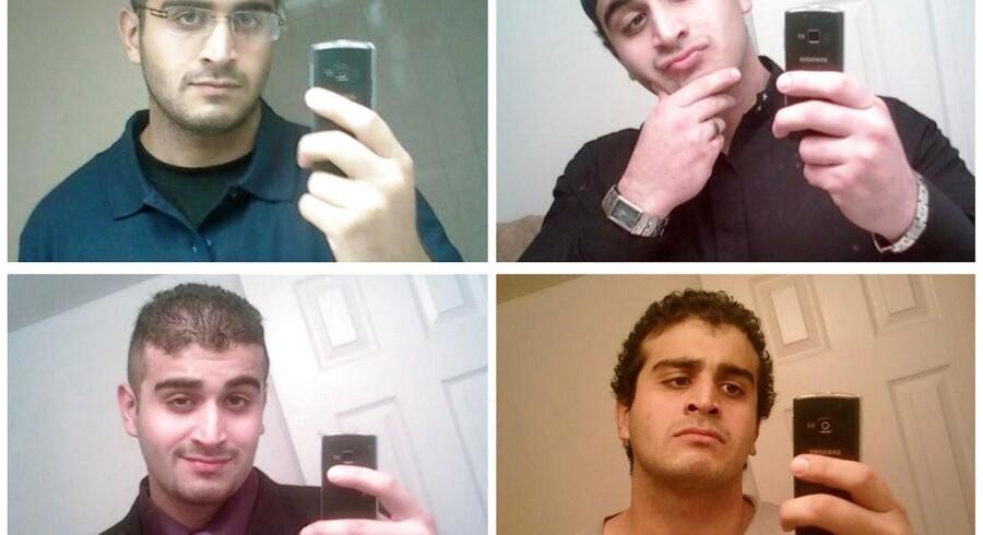 Omar Mateen poserer for selfies, som han angiveligt lagde ud på dating-sites for homoseksuelle, bl.a. Grindr. Flere mænd hævder at have kommunikeret med ham der, og én mand siger, at han havde 15-20 stævnemøder med Omar Mateen på Hotel Ambassador i Orlando.