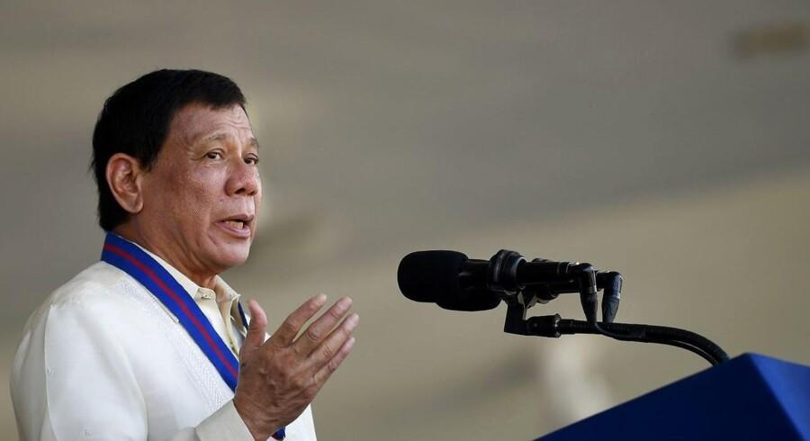 Arkivfoto: Filippinernes præsident vil ikke vise sin søn nåde, hvis det viser sig, at han er en del af en narkoring.