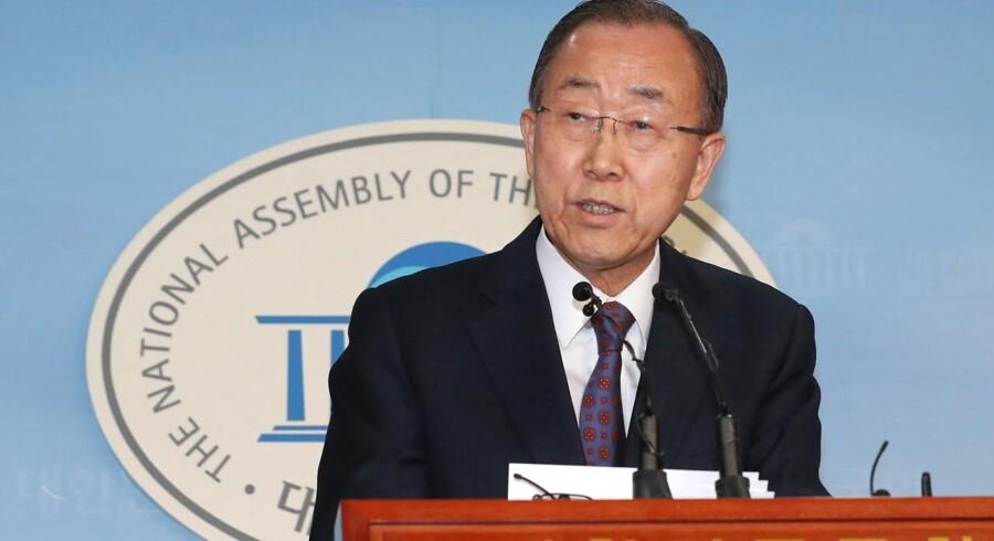 Arkivfoto. Den tidligere FN-generalsekretær trækker sig tilbage fra politik, siger han på et pressemøde.