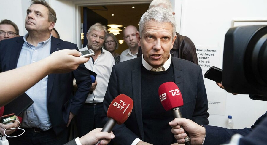 Klokken 2.48 på valgnatten meddeler John Dyrby Paulsen (A) på Slagelse Rådhus, at han bliver ny borgmester efter Regions- og Kommunalvalget 2017, onsdag den 22. november 2017.. (Foto: Claus Bech/Scanpix 2017)