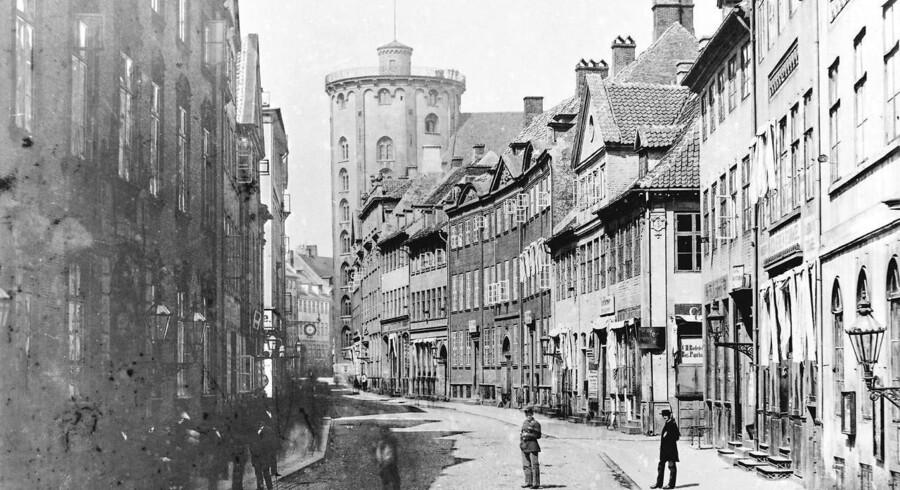 Købmagergade i sidste halvdel af 1800-tallet.