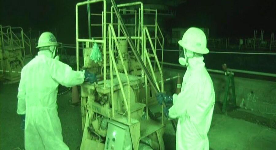 Fukushima Daiichi-kraftværket i Okuma, nordøst for Tokyo, Japan.