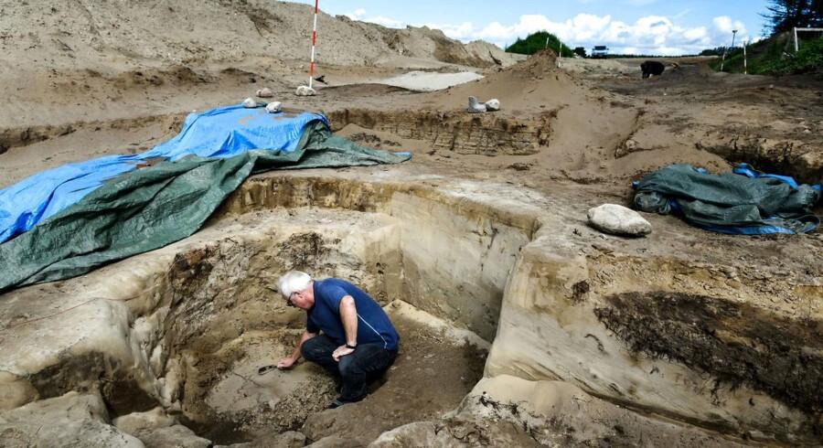 Udgravning i Aars. Foto: Nicolas Cho Meier Udgravning i Aars. Foto: Nicolas Cho Meier, Nordjyske Stiftstidende