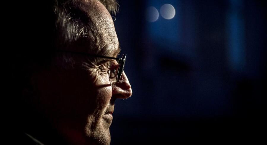 Anders Bondo Christensen fra Danmarks Lærerforening forlader forhandlingerne i Forligsinstitutionen på Sankt Annæ Plads i København, onsdag den 18. april 2018. Forhandlingerne startede klokken 10:00 tirsdag formiddag og kan trække ud længe endnu. (Foto: Mads Claus Rasmussen/Ritzau Scanpix)