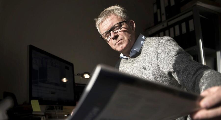 Henrik Enegaard Skaanerup blev reddet fra arbejdsmani af en fyreseddel. Her er han fotograferet på hans hjemmekontor i Bagsværd.