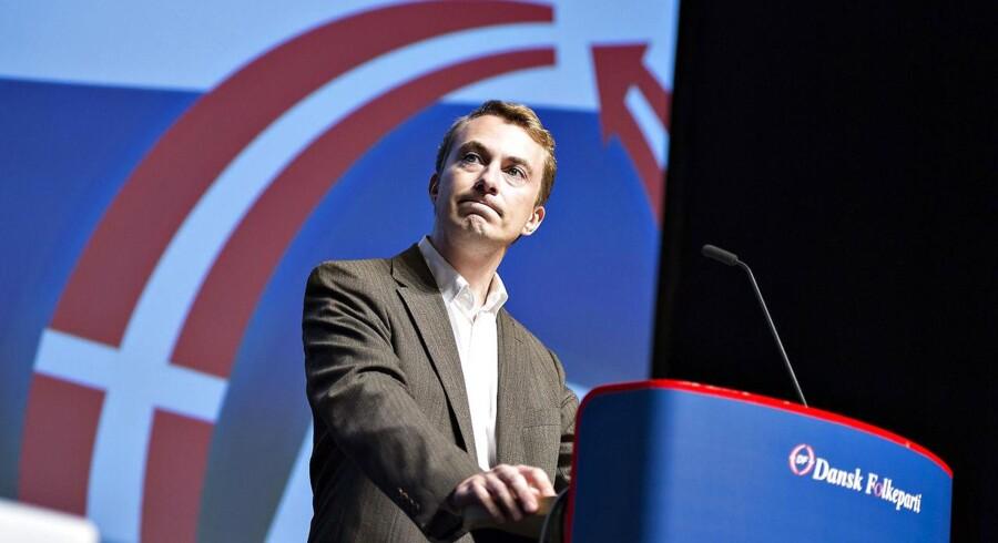 Morten Messerschmidt på talerstolen ved DFs årsmøde. Foto: Henning Bagger / Scanpix 2016