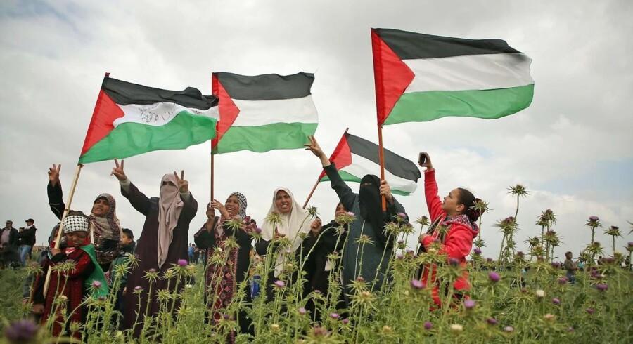 Palæstinensere i tusindtal demonstrerer fredag ved grænsen mellem Gazastriben og Israel, og det har ført til sammenstød med sikkerhedsstyrker. Protesten er planlagt.
