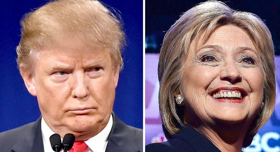 Demokraten Hillary Clinton og republikaneren Donald Trump rykkede ved primærvalget i Arizona tirsdag tættere på et endeligt opgør med hinanden ved det amerikanske præsidentvalg i november.