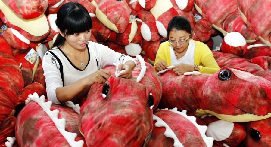 Gennemsnitslønnen i Kina var sidste år på knap 25 kroner i fremstillingsindustrien.