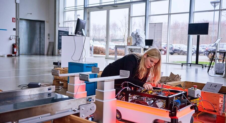 Den nye »MIR«-robot kan samarbejde med de robotter, de allerede har hos Vestas. Foto: Kirstine Mengel
