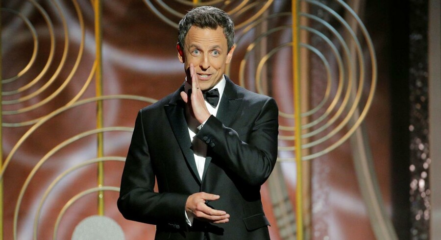 Seth Meyers ved Golden Globes, der blev uddelt i nat for 75. gang.