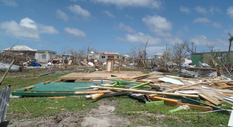 Ødelæggelserne efter orkanen Irma på de caribiske øer har været voldsomme. Scanpix/Gemma Handy