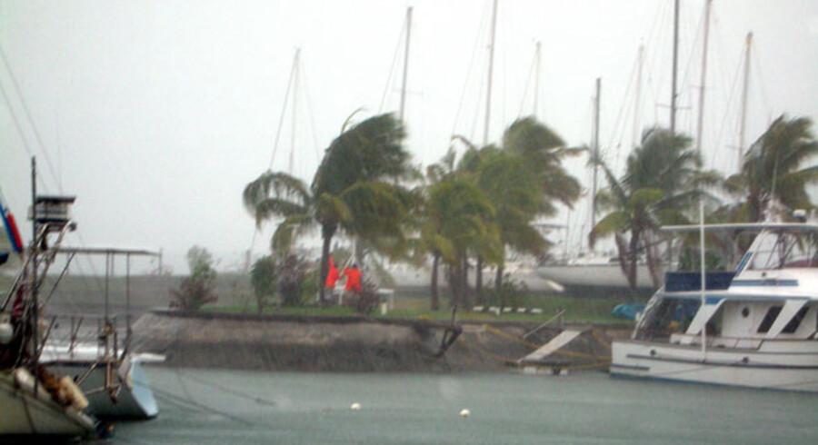I december sidste år ramte orkanen Mick Stillehavet. På Fiji blev tusindvis hjemløse da øen blev ramt af oversvømmelse og mindst tre døde.