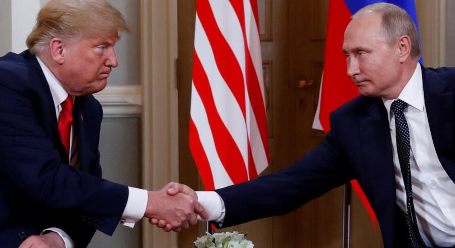 Trump og Putin diskuterede Irans rolle i Syrien og nedrustningstraktater på topmødet i Helsinki i juli. I næste uge genoptager sikkerhedsrådgivere deres drøftelser, skriver nyhedsbureauet Reuters. Kevin Lamarque/Reuters