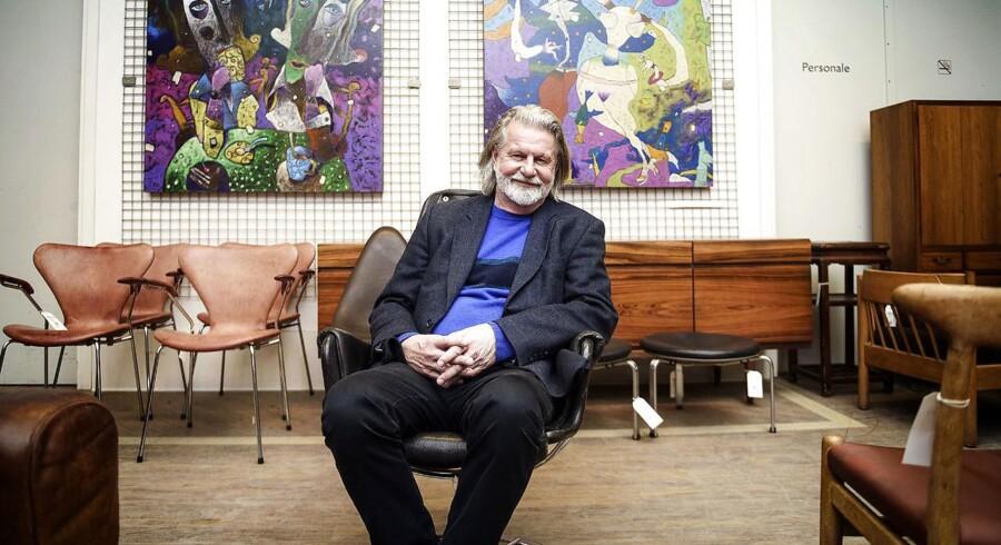 Bengt Sundstrøm hos Lauritz.com i Herlev. Selskabet er presset af en stor gæld, som ejeren forsøger at få bugt med.
