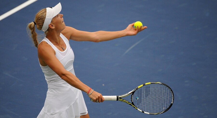 Caroline Wozniacki skal sent onsdag dansk tid møde Kiki Bertens i Cincinnati. Jonathan Moore/Ritzau Scanpix