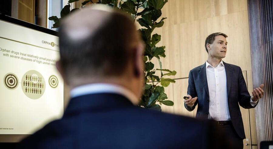 Anders Hinsby, adm. direktør i Orphazyme, er klar til at gå videre med udvikinligen af et middel mod den frygtede ALS-sygdom.