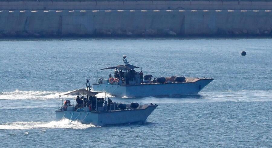 ARKIVFOTO: »Skibet blev fulgt og blev opbragt i overensstemmelse med folkeretten«, lyder det fra den israelske hær.
