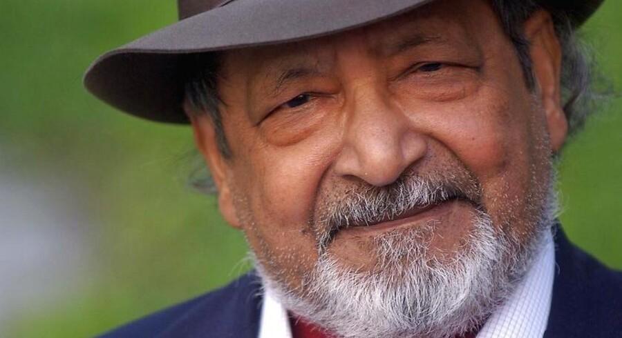 Den engelske forfatter og modtager af Nobelprisen i litteratur i 2001, Vidiadhar Surajprasad Naipaul, er her fotograferet i Madrid i 2002.