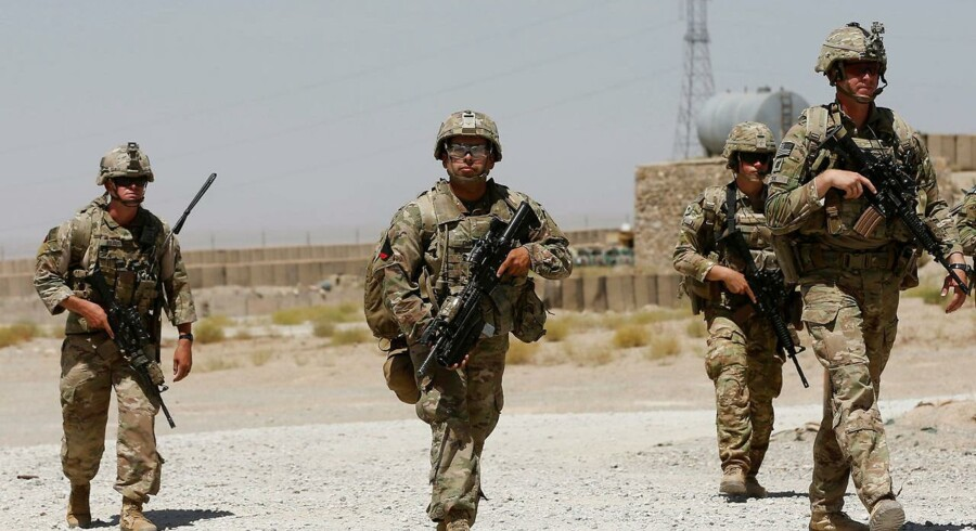 Amerikanske tropper ved Afghan National Army (ANA) Base, Afghanistan, 7. august 2018.