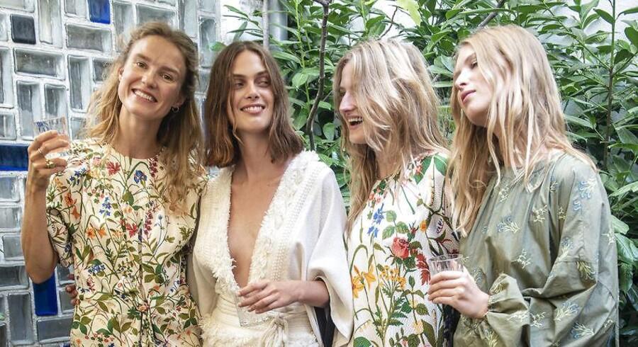 Copenhagen Fashion Week SS19. Rodebjershow.Helt til venste: Amanda Collin, som sammen med designer, Carin Rodbjerg, står bag fremvisningen af Rodebjer SS19.