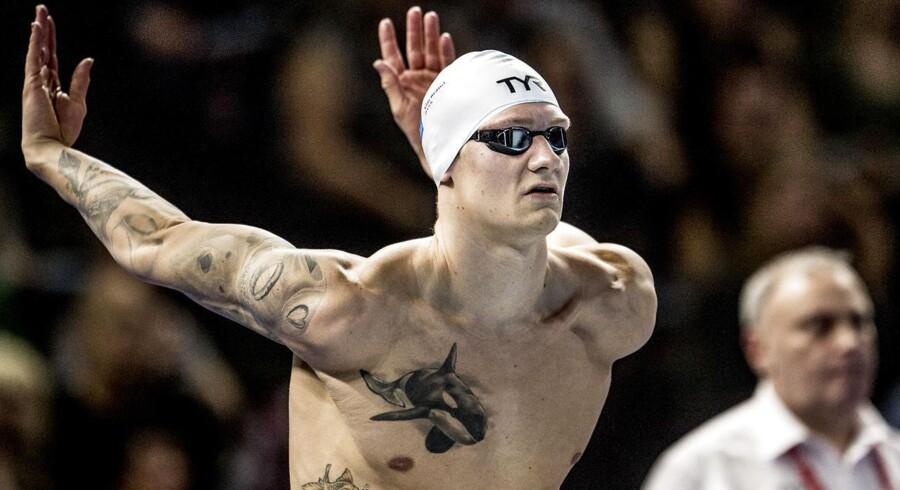 Viktor Bromer er den eneste herresvømmer tilbage blandt de fem semifinaleklare svømmere.