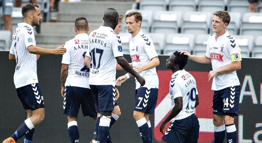 AGF vandt for første gang i denne sæson i Superligaen, da det blev 1-0 hjemme over Sønderjyske. Henning Bagger/Ritzau Scanpix