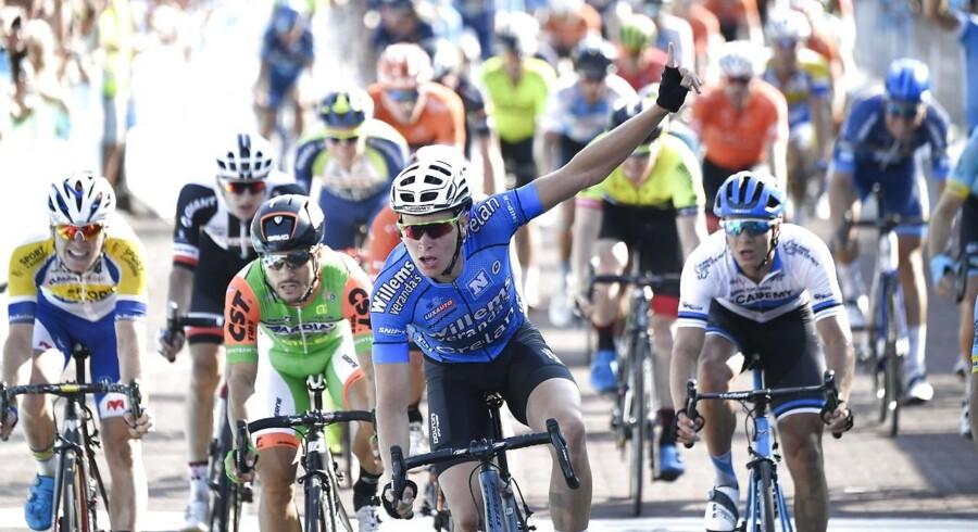 Tim Merlier vinder 3 etape Næstved Vordingborg Postnord Danmark Rundt 2018, fredag den 3. august 2018.. (Foto: Thomas Sjoerup/Ritzau Scanpix)
