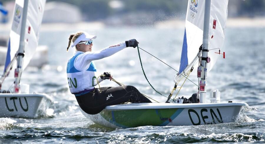 Arkivfoto. Anne Marie Rindom i aktion ved OL i Rio 16. august 2016. (Foto: Jens Nørgaard Larsen/Scanpix 2017)