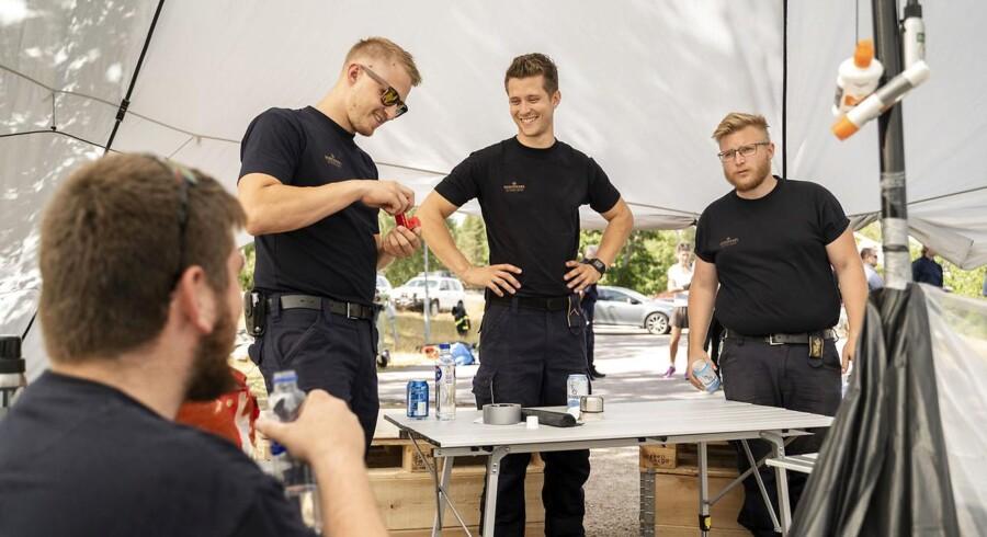 Billeder fra lejren hvor det Danske Beredskab er indlogeret.