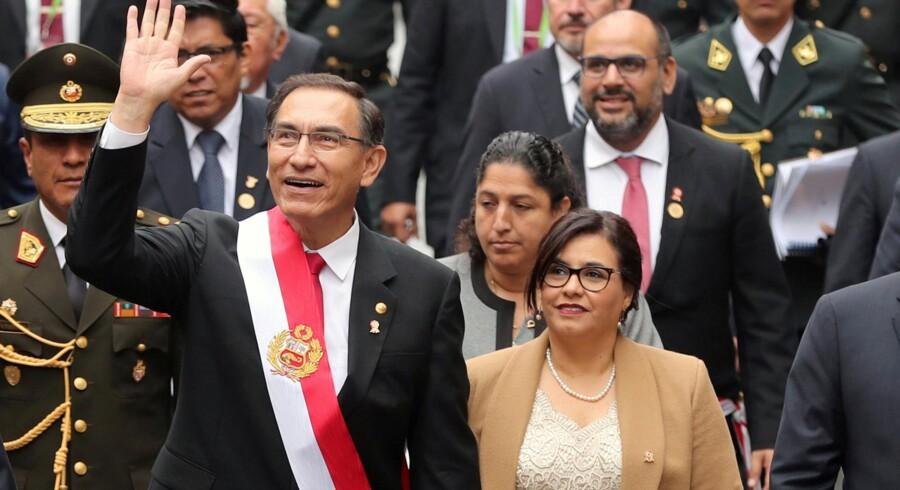 Perus præsident Martin Vizcarra, har annonceret, at der skal holdes en folkeafstemning, som kan ændre hele det juridiske og politiske system i landet. Guadalupe Pardo/arkiv/Reuters