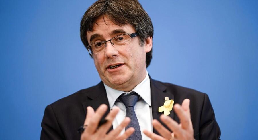 Den tidligere catalanske præsident Carles Puigdemont vil vende tilbage til Belgien efter ophold i Tyskland.