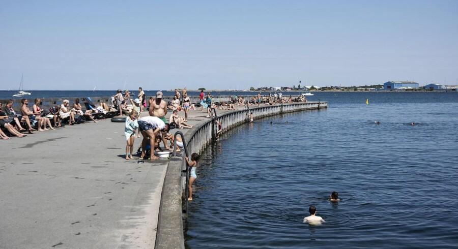 Svanemøllen strand i København d. 19 juli.