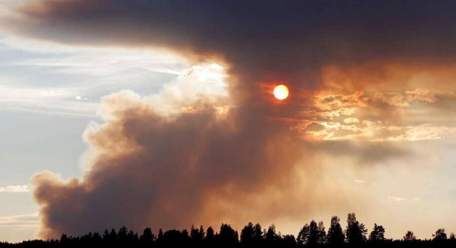 Der forventes op til 35 grader i de kommende dage i Sverige, hvilket gør forholdene for brandmændene værre.