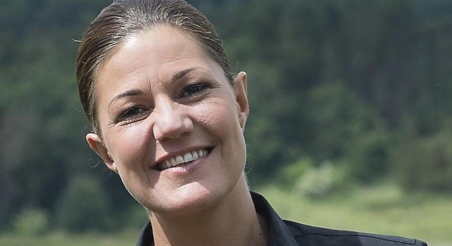 Mette Blomsterberg skal nyde den danske sommer sammen med sin mand, Henrik Jæger Blomsterberg, og parrets to døtre, Laura og Maja. Claus Fisker/Ritzau Scanpix