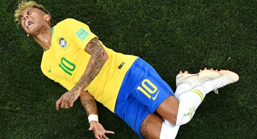 Neymar har fået hård kritik for skuespil under VM-slutrunden. Han og det brasilianske landshold nåede til kvartfinalen, hvor Belgien dog blev endestation.