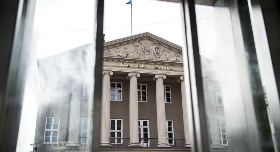 Danske Bank på Kongens Nytorv, den 3. maj 2018. Den danske finanskæmpe har gennem et årelangt comeback nærmet sig den nordiske bankelite, men efter en anderledes udfordrende start på 2018 er banken slået tilbage.