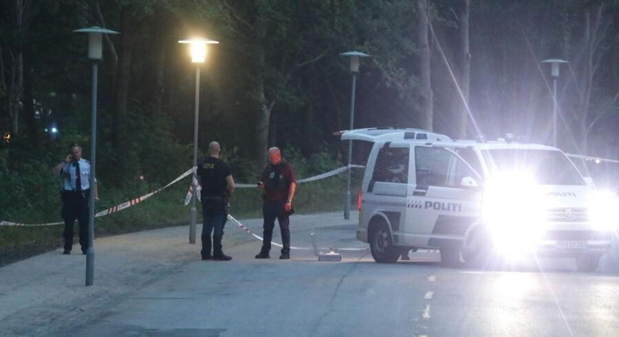 Politiet undersøger området tæt på DTU i Lyngby, hvor der blev affyret skud.