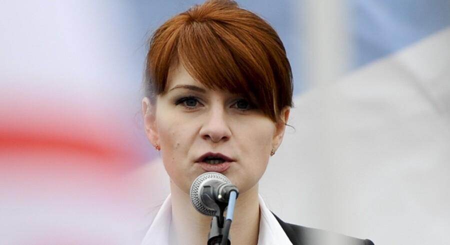 Det russiske udenrigsministerium opfordrer USA til at løslade Maria Butina, som USA mistænker for at være hemmelig agent for Rusland. Arkiv/Ritzau Scanpix